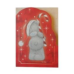 Me to you – Julkort, nalle med polkastång