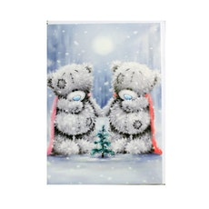 Me To You - Julkort, Nallar runt liten gran 6-pack