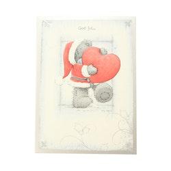 Me To You – Julkort, nalle som håller ett hjärta 6-pack