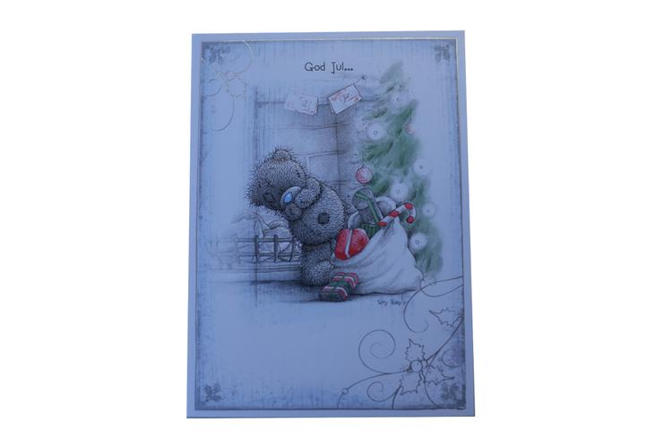 Me to you – Julkort, Nalle med Julklappssäck 6-pack