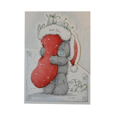 Me to you – Julkort, Nalle med julstrumpa 6-pack
