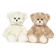 Teddykompaniet - Nallen Samuel Vit/Ljusbrun