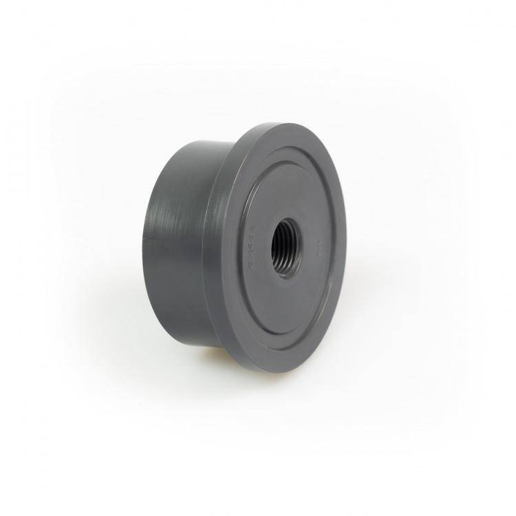 """Limnippel d50 DN40 med invändig 1/4"""" gänga PVC-U"""