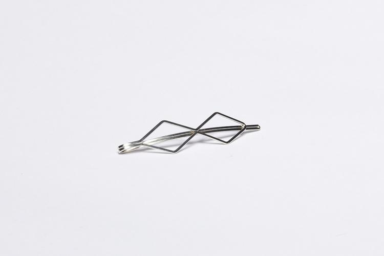 Pieces by bonbon Josefin hairclip Silver