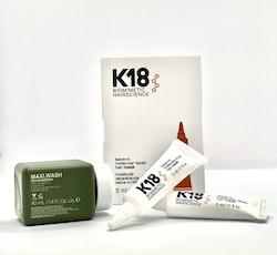 K18 DUO At Home Hair Mask 2x5 ml + Kevin Murphy Maxi Wash 40ml KAMPANJPRIS!