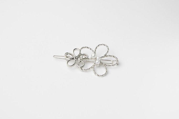 Pieces by bonbon Anna-lisa hairclip silver