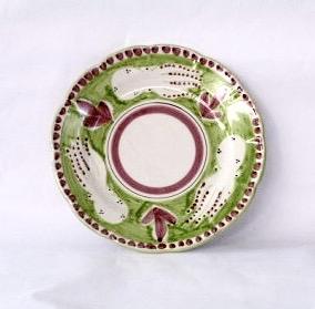 Amalfi mattallrik, ljusgrön med djurmönster, 26 cm