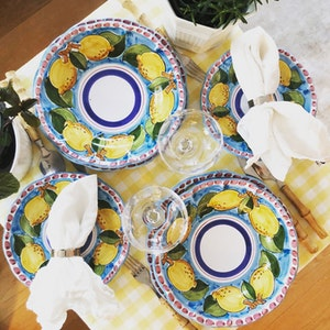 Sorrento Limone set, turkos botten
