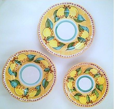 Sorrento Limone set, gul botten