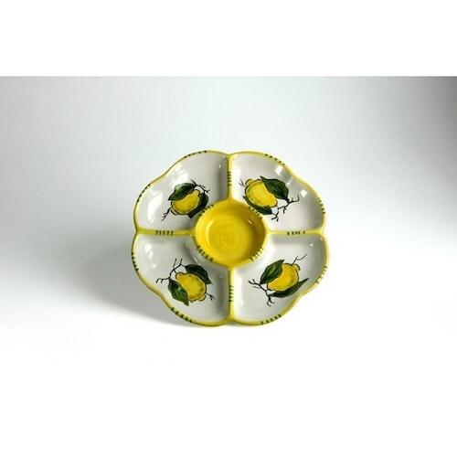 Runt uppläggningsfat för buffé med citronmönster, 26  cm