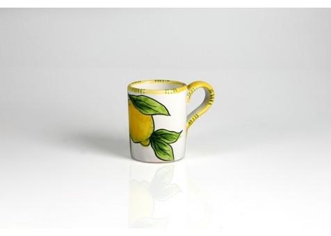 Limone Bianco kaffemugg med citronmönster