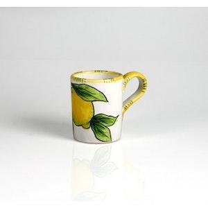 Kaffemugg med citronmönster