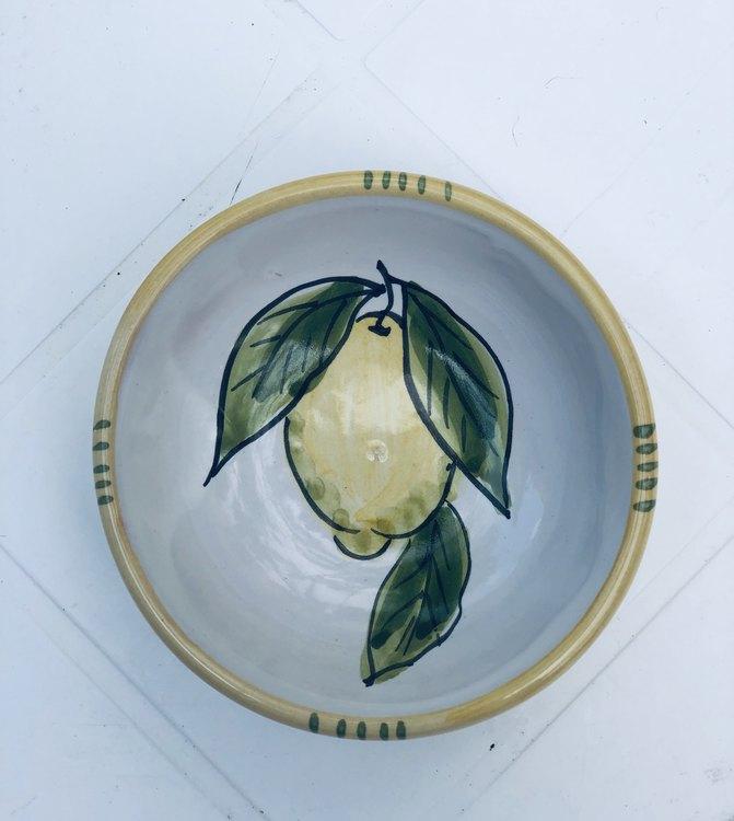 Liten skål med citronmönster, 9 cm