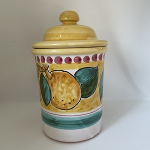 Sorrento Limone burk med lock, gul