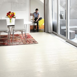 Tarkett Shade Ask Pearl White Plank Br 1-Stav - Lack - Parkettgolv - 2200 MM - 14 MM
