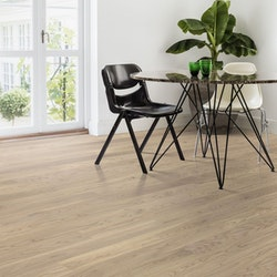 Tarkett Shade Oak Cream White Midiplank 1-Stav - Mattlack - Parkettgolv - 1850 MM - 13 MM