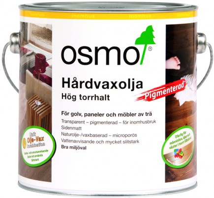 Osmo Hårdvaxolja Pigmenterad 3072 Bärnsten sidenmatt 0,75 L