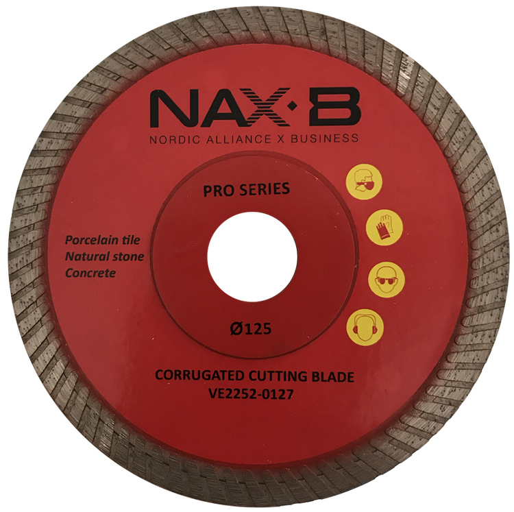 Ps Corrugated cutting blade 125 mm