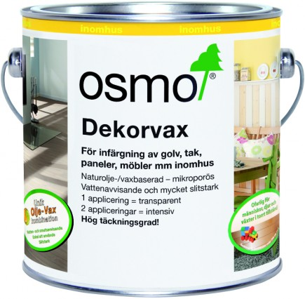 Osmo Dekorvax 3130 Skiffergrå sidenmatt 0,375 L
