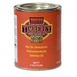 Timberex Olja för bänkskivor Ofärgad matt 0,33 L