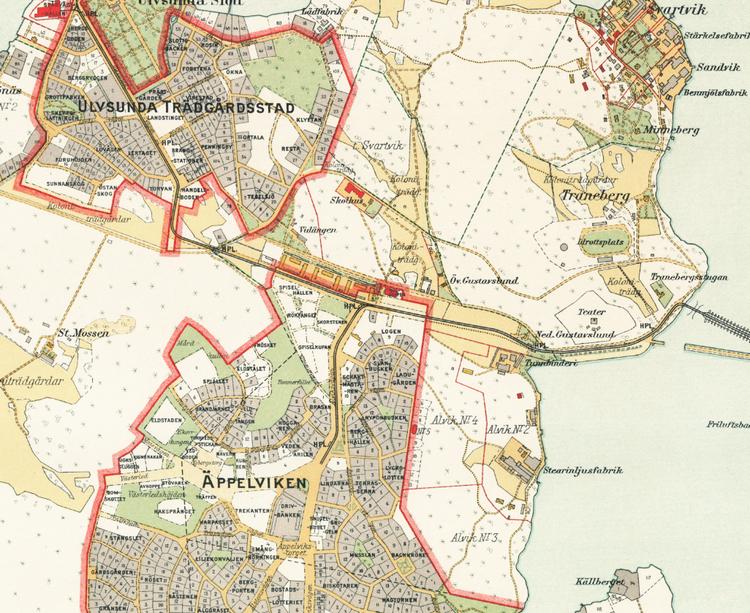 Stockholm med omnejd – Staden – 1917–1922