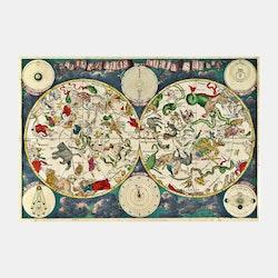 Världskarta – Planisphæri Cœleste – 1670