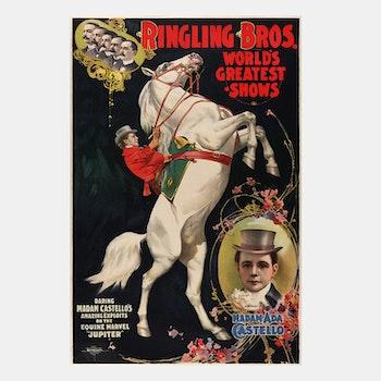 Cirkusposter – Ringling Bros – 1899