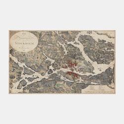 Karta – Stockholm och omgivningar – 1817