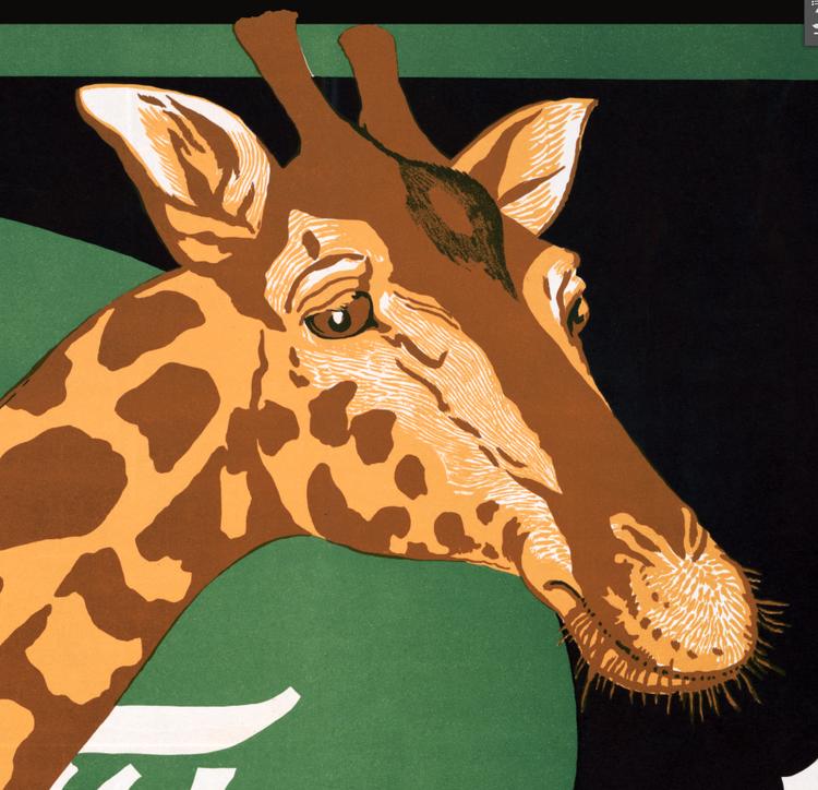 "Reklamskylt – ""Giraffen"" – 1910"