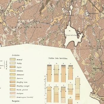 Karta över Farsta och Gustavsberg – Värmdö – 1887