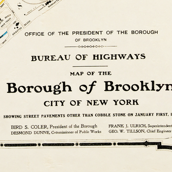 Map of the Borough of Brooklyn, City of New York – 1907