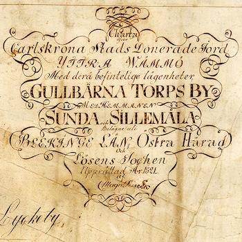 Karta – Blekinge, Karlskrona – 1821