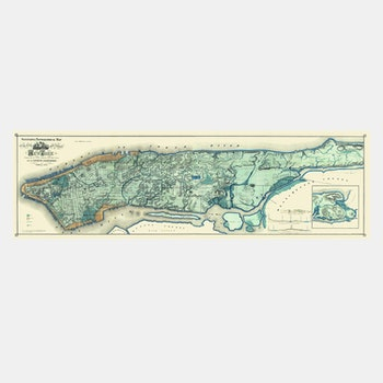 "Sanitary & Topographical Map of the City and Island of New York, ""Viele Map"" – 1865"