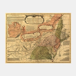 """""""A general map of the middle British colonies in America"""" – 1771"""