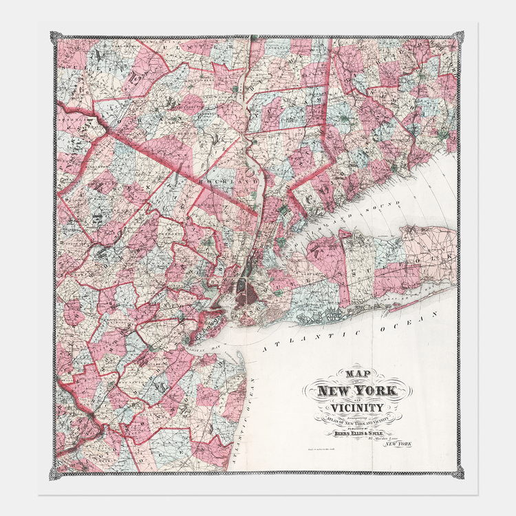 Map of New York and Vicinity – 1868