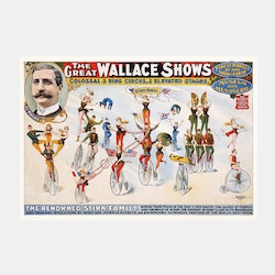 Cirkusposter – The Great Wallace Shows – 1898