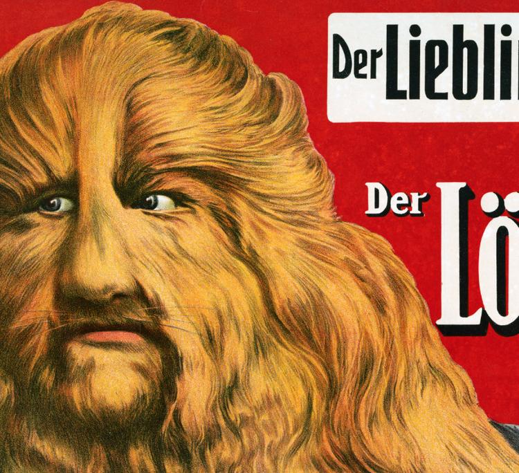 Cirkusposter – Lionel der Löwenmensch – 1913