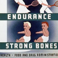 Reklamskylt – Milk for health – 1940