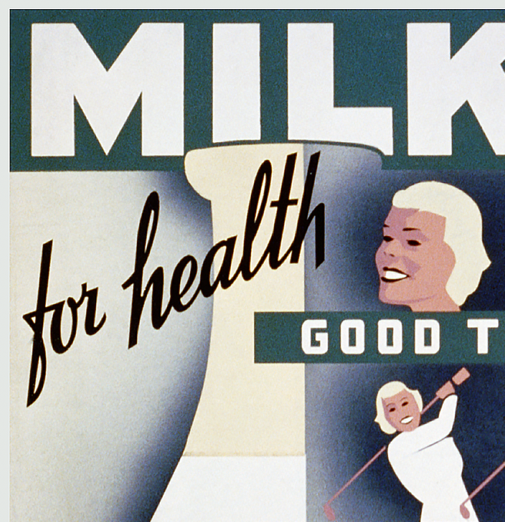 Reklamskylt – Milk for health – 1940