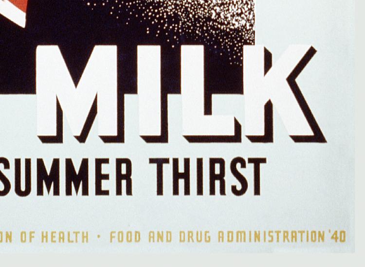 Reklamskylt – Milk For Summer Thirst – 1940