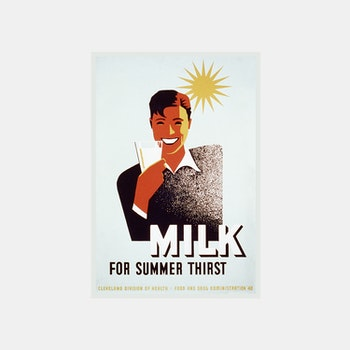 Reklamskylt – Milk For Summer Thirst – 1940