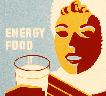 Reklamskylt – Milk For Warmth – 1941