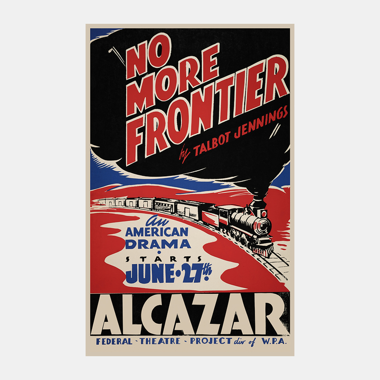 Teaterposter – No More Frontier – 1930