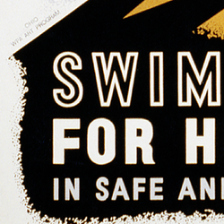Reklamskylt – Swim for health – 1940