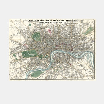 Whitbread's plan of London – 1853