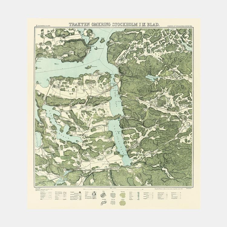 Trakten runt Stockholm, blad 3 – 1861