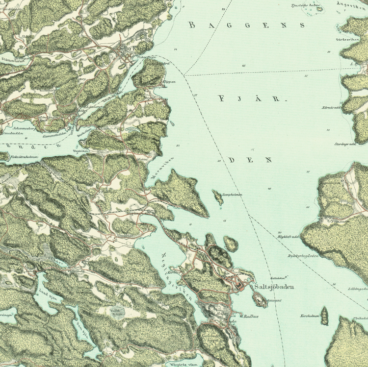 Trakten runt Stockholm, blad 8 – 1861