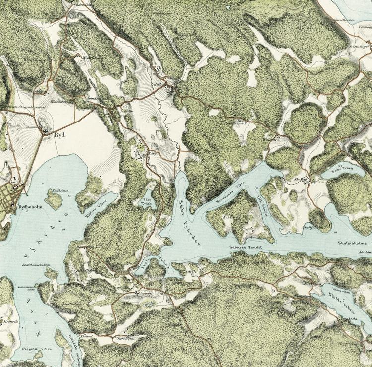 Trakten runt Stockholm, blad 7 – 1861