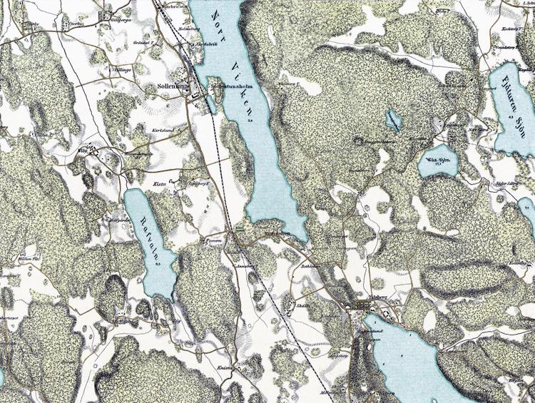 Trakten runt Stockholm, blad 1 – 1861 – Spoil Art-variant