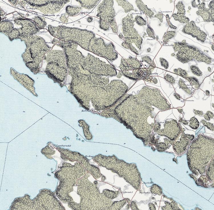 Trakten runt Stockholm, blad 2 – 1861 – Spoil Art-variant